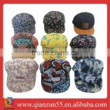colorful floral caps custom snapback oem hats wholesale snapbacks cotton polyester denim jeans suede corduroy caps and hats
