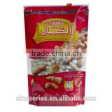 stand up bag for banana chips pouch with colouful printing