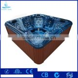 Hot Selling Large Size 5 Person 2 Lounge Corner Drain Outdoor Massage Balboa System Hot Tub Spa