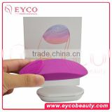 Hot sale in Korea sonic electrinic facial silicone pore scrubber face rubber cleansing pad brush cleanser