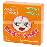 Mei Mei Baby Soap 75g (luxury of a goat's milk bath) lathers to a creamy texture and does not dry the skin