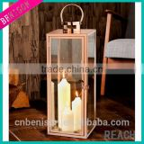 Rocina Stainless Steel Copper Cylinder Lantern Candle Lanterns for Outside Wedding Lantern