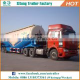 2017 China hot sale 3 axles 60cbm powder material tank trailer, bulker cement silo trailer for sale