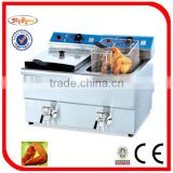 table top 2 tank Electric chips Fryer with CE certificate (DF-10L-2)