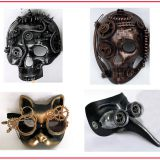 steampunk mask  4 styles assorted