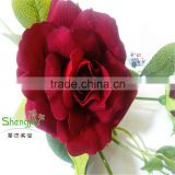 making flower silk rose artificial rose single rose flower