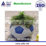 China factory design football water fill plastic plant pots wholesale
