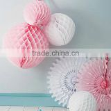 Hanging colorful paper pompoms/ paper garland