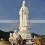 large outdoor sculptures marble carving white guanyin vietnam marble sculptures