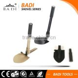 outdoor survival garden folding spade with compass