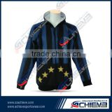 active sublimated sports rugby hoodies Custom Hooded Sweatshirts gym fashion offical team sweaters