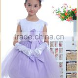 hot bow appliqued ball gown tulle flower girl dress european fashion pictures of sexy wedding night dresses for children