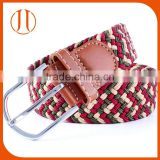 Green red Cotton Pin buckle webbing weaving fabric strap belt