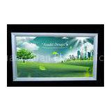 Magnetic Solar Led Backlit Light Box , B2 Frameless Advertising Panel