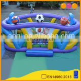 Puzzle game Multifunction sports area indoor portable football match inflatable field for sale