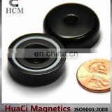 "39 LB Holding Power Neodymium Cup Magnet 1"" Magnetic Round Base with #10 screw Epoxy Coat"