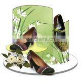 countertop pmma plexiglass acrylic round shoe display