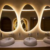 Oval Toilet front illuminated led light mirror
