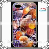 New arrival 3D Effects seashell Pattern Phone Plastic Case for iphone 6