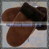 2015 Fashion Winter Handmade Sheared Sheepskin Gloves Mittens/Cheap Cute Fashion Winter Warm Mittern Gloves