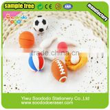 3D blister card balls shaped erasers--puzzle sport