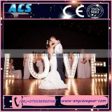 ACS lovely colorful led giant love letter&light up love sign