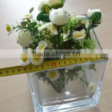 big clear glass cube vase factory price