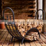Powder-Coated Tubular Steel and Wrought Iron Curved Wood Rack Tear and Mildew Resistant Cover