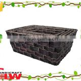 Water hyacinth and seagrass material wicker crafts storage basket                                                                         Quality Choice