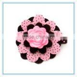 Rose flower Hair Clip, Baby Hair Clippies, felt flower Girl Barrette