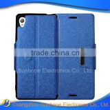wholesale flip type wallet cell phone case for SONY M4 Aqua