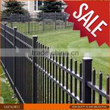 Powder coated galvanized yard guard steel metal fence and gates designs