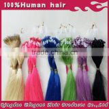 100% Virgin Remy Micro Loop Hair Extensions with any color wholesale