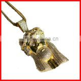 2016 new arrived factory direct selling bling bling paved cz gold necklace designs in 10 grams