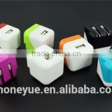 eu/us square design wholesale mini usb wall home charger