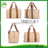 fashionable candy color canvas cooler bag with handle portable lunch bag thermal fitness insulated food bags