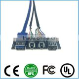 Dual USB2.0+USB3.0+HD AUDIO Computer Front Case Panel Cable Panel-Mount PCB Computer Module Cable