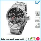 Build your watch brand easily stainless steel case back watch multifunctional movement big case big crown