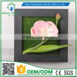 Greenflower 2016 Wholesale 3D Wall Moth orchid Picture Group artificial plants arts and crafts making factory Home decorations