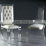 Transparent and luminous chair acrylic chair