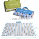 2016 pp woven material best price folding plastic beach mat