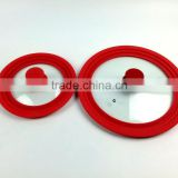 Universal deckel,glass Pot lids,Silica gel glass cover,Pot lids,General glass cover ,silicone pan cover
