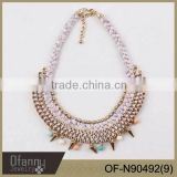 Wholesale Chunky Statement Necklace In China Handmade Braid Rope Necklace