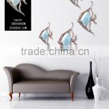 Resin shell fish wall sticker home decor