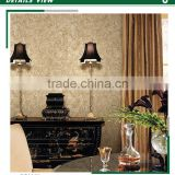 free samples golden edge non woven wallpaper, royal damask diy wall sticker for home , new design wall decor brands