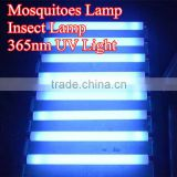 Insect attraction lamp T8 20W 365nm UV blue light insect killers lamp