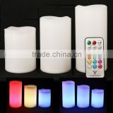 wax Weatherproof Outdoor and Indoor Color Changing Candles with Remote Control & Timer