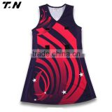 Custom dye sublimation netball dress