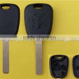 307 with groove and logo for high quality car key transponder chip peugeot key case cover shell blank