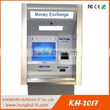 Manufacturer Self service bank kiosk with cash acceptor and cash dispenser money exchange machine
